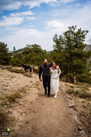 Colorado wedding photography from Hermit Park, Estes Park created as the bride and groom on their post-ceremony hike