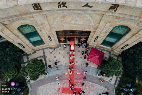 Zhejiang Home documentary wedding photography from a drone outside
