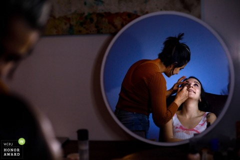 Etiler bride is getting ready in her home for the wedding celebration in Istanbul