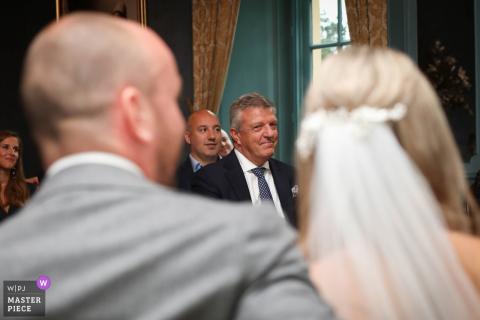 Kasteel Wijenburg Echteld wedding photo of the father of the bride giving a pleasant look