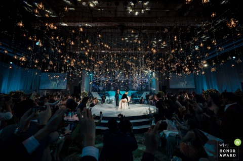 Thai wedding photography from a Bangkok First dance in a highly decorated reception hall venue
