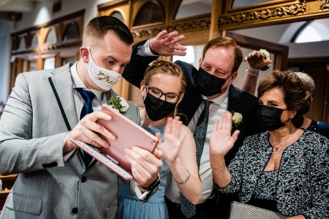 JD Land, of Pennsylvania, is a wedding photographer for