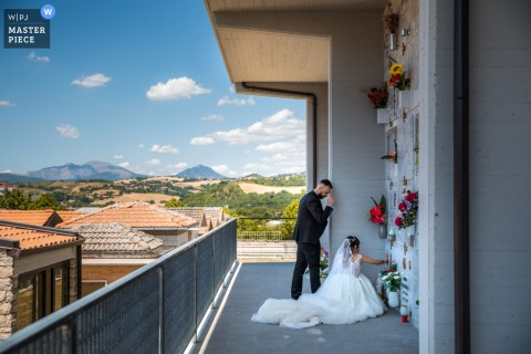 Cimitero nuptial day award-winning image of Memories. The world's best wedding photography competitions are hosted by the WPJA
