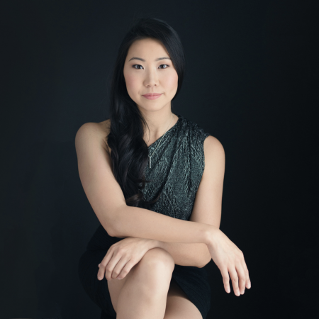 Studio portrait of Boston small wedding and elopement photographer Nicole Chan of Massachusetts