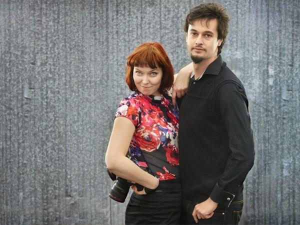 Marcin Bobowski, photographe de mariage en Pologne, et son épouse.
