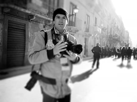 Nino Lombardo, heeft een carrière in huwelijksfotografie ... reportage en landschap