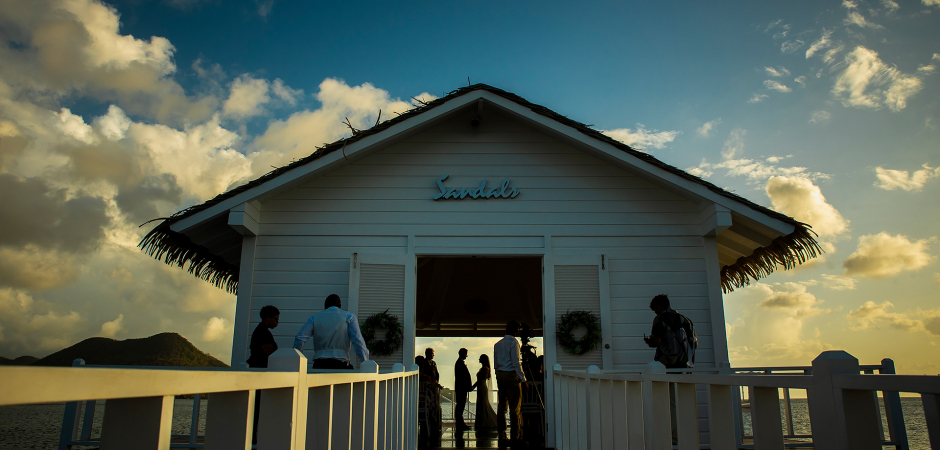 Sandals wedding ceremony photography in St. Lucia by: Jesse La Plante