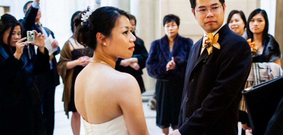 Chris Shum, photographe de mariage à l'hôtel de ville de San Francisco