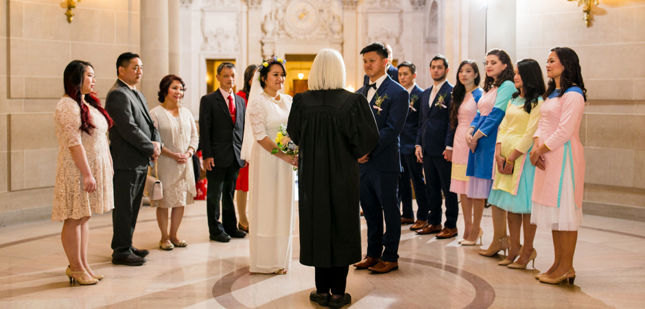 Image from a San Francisco City Hall CA Civil Wedding Ceremony