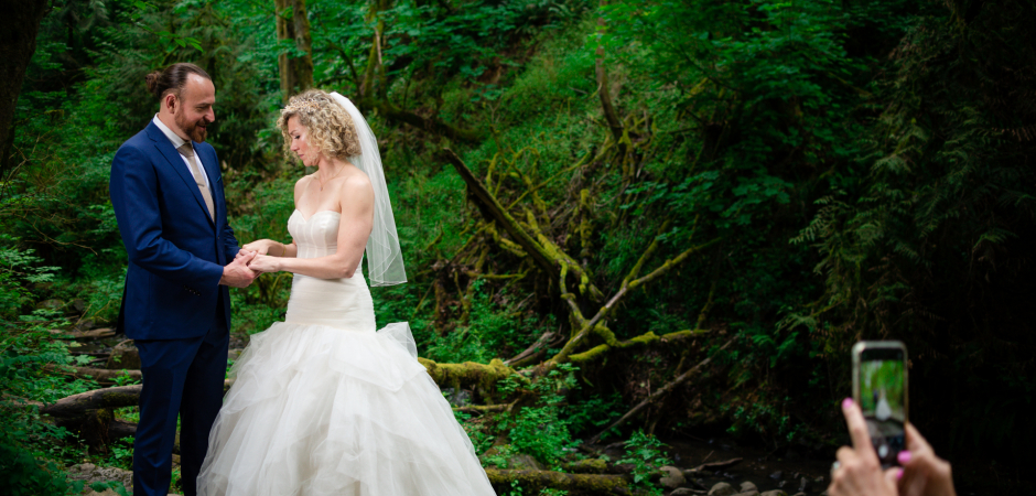 Portland, Oregon Park and Backyard Wedding - Foto di Samantha Moore