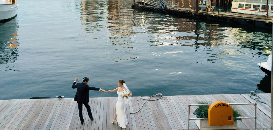 Hochzeitsfotografie des Boston Harbor Hotels von Alex Gordeev