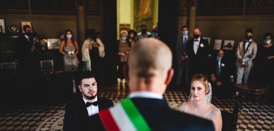 Wedding image from the Borgo San Lorenzo Town Hall, Florence, Italy - Wedding Photography by Simone Miglietta