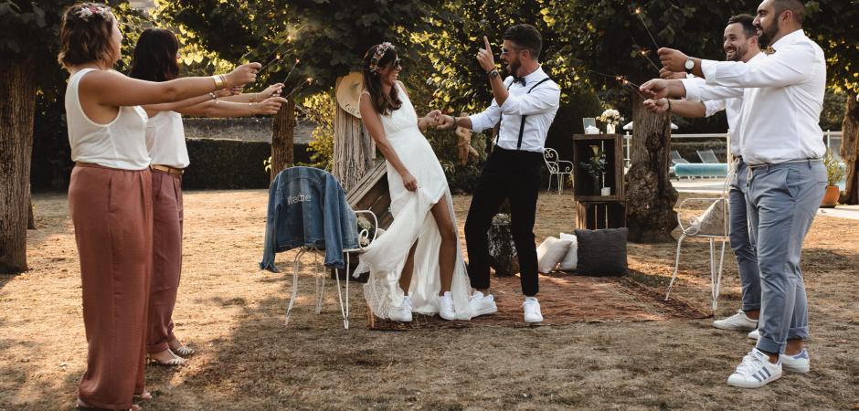 Argenton sur Creuse, Frankreich Hochzeitszeremonie im Freien Fotografie von Gaelle Caré