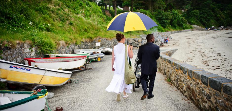 Imagem do casamento no destino de uma fuga da ilha - Foto de Nick Despres