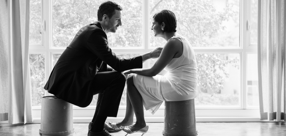 Elopement wedding image of a couple at their D.C. apartment in Washington DC - Elopement Photos by Carl Bower