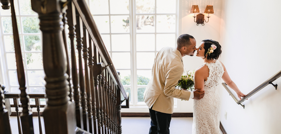Wedding image from a Seal Cove Inn, Half Moon Bay, California marriage ceremony - Elopement Photo by Tyler Vu
