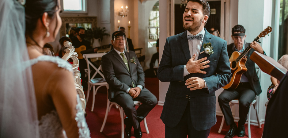 Wedding ceremony image from the Shabby Chic House of San Isidro, Heredia, Costa Rica - Elopement Photo by Mauricio Uren