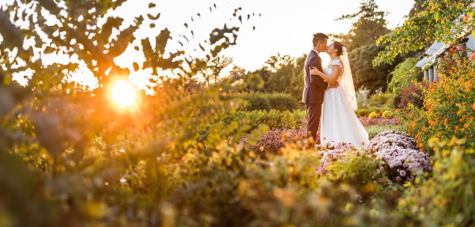 Wedding portrait from a Maymont Italian Gardens event in Richmond, VA - Elopement Photo by Xiaoqi Li