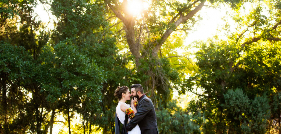 A backyard outdoor wedding image from Boulder, Colorado ceremony - Elopement Photography by Lucy Schultz