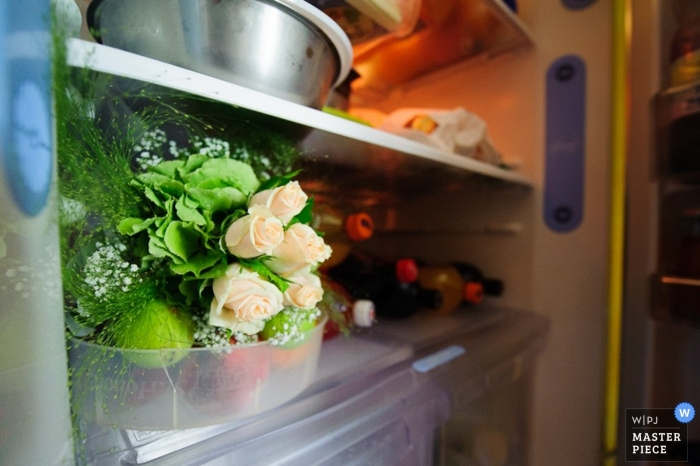 Taranto Wedding Photographer   Image contains: detail, getting ready, color, indoors, flowers, soda, refrigerator
