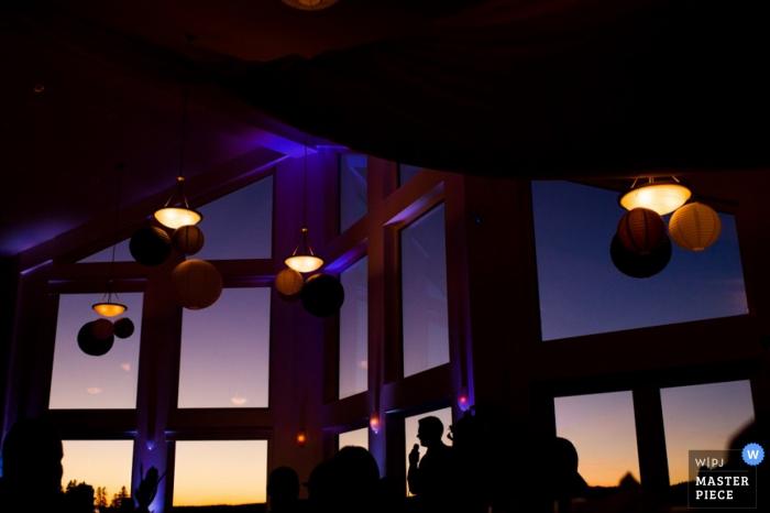 Nova Scotia wedding reception during the evening - Canada wedding photojournalism