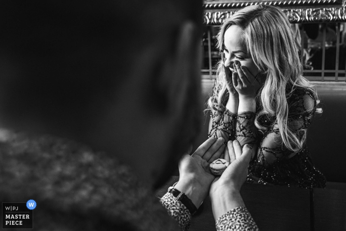 Paris photograph of emotional bride   Wedding day moments captured in France