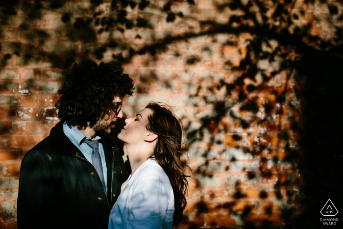 A Denver engagement photo shoot session with warm sunlight | CO photographer