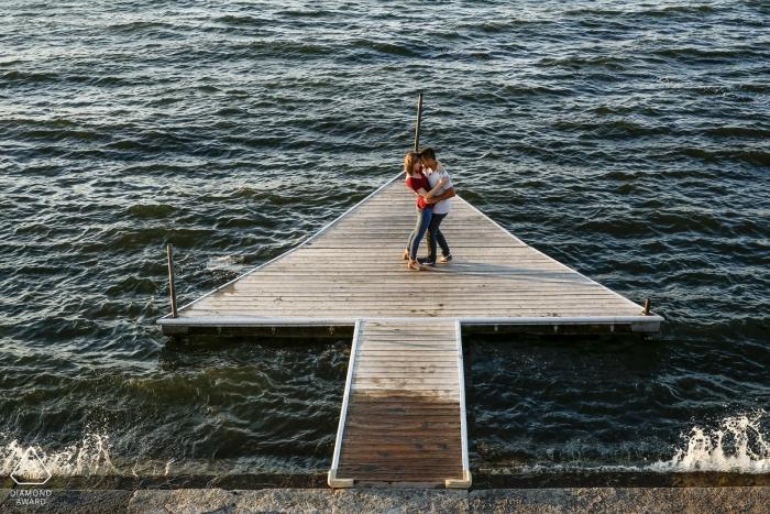 University of Wisconsin Madison Union Terrace Lake Mendota Engagement Session | Wedding Photography