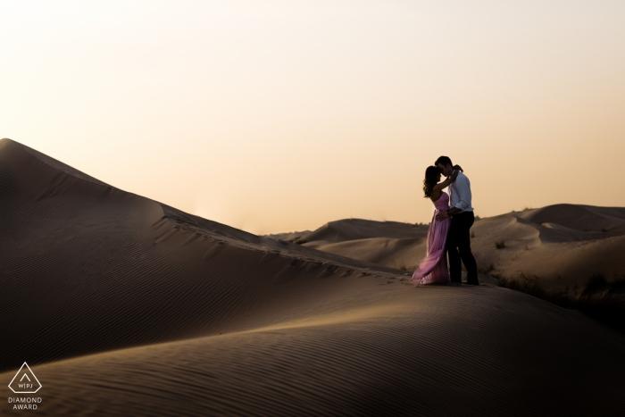 Desert Sunset Engagement Photos in Dubai UAE United Arab Emirates