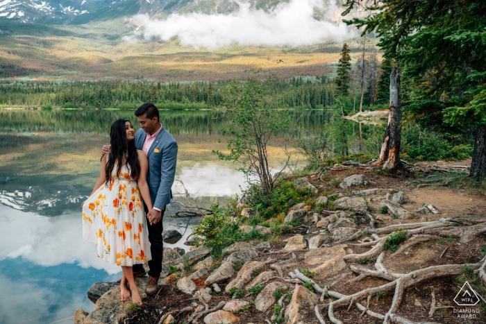 Alberta-Bilder eines Paares von einem erstklassigen kanadischen Hochzeitsfotograf