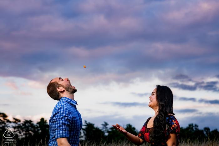 VA Vor-Hochzeits-Porträt-Fotograf Arlington Engagement Fotografie
