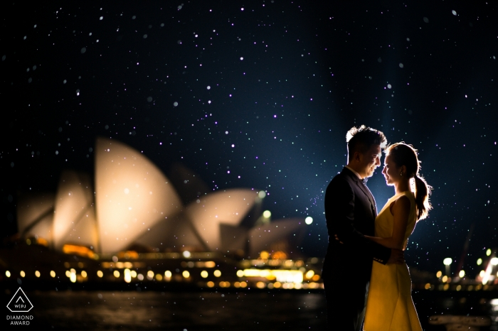 Sydney engagement images of a couple near the Opera House    NSW photographer pre-wedding session for portraits