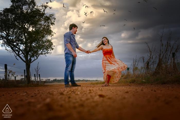 Photos de Goiás d'un couple par un photographe de mariage haut brésilien