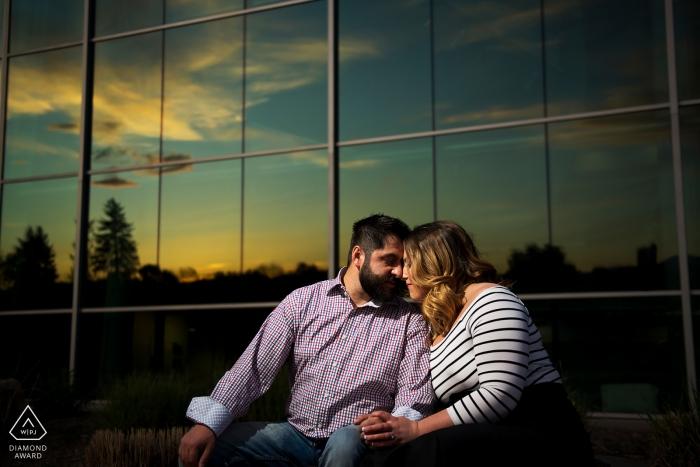 Photographie de fiançailles du parc de la ville de Denver | Photographe de mariage à Denver