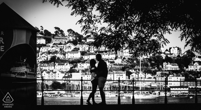 Dartmouth front engagement portrait - GRW Wedding Photography