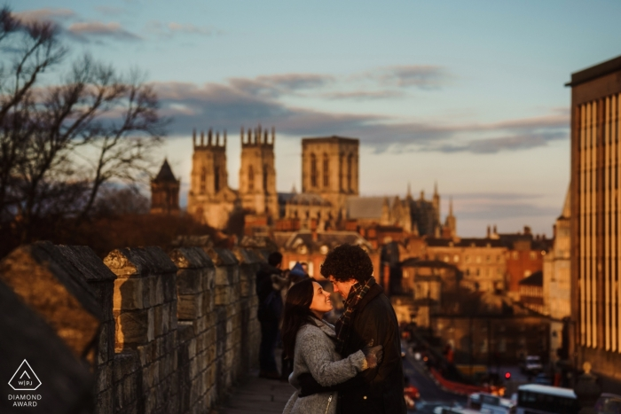 York Minster Sunset engagement photography | Norfolk England wedding photographer