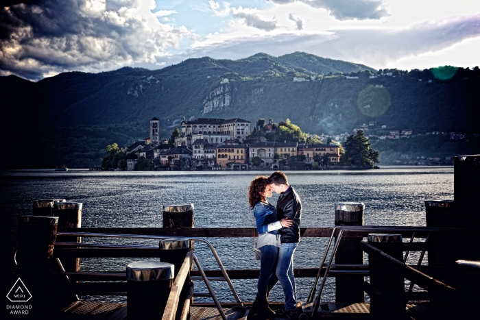 Milan destination wedding photography by the lake | Lombardy engagement photographers