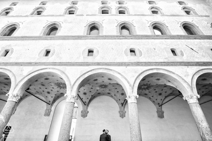 Milano, Italy pre wedding portraits - best Italian engagement photo