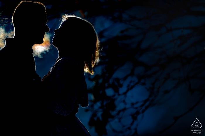 Edmonton Alberta Pre Wedding Portraits - A Steamy Winter Engagement