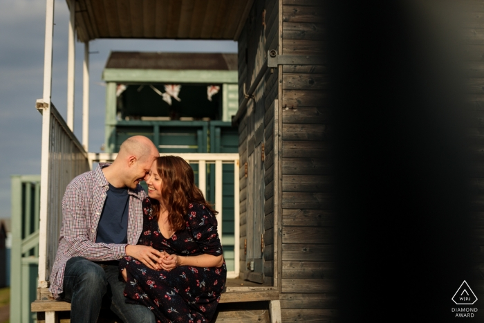 Coastal engagement shoot with a couple in Whistable Kent, UK