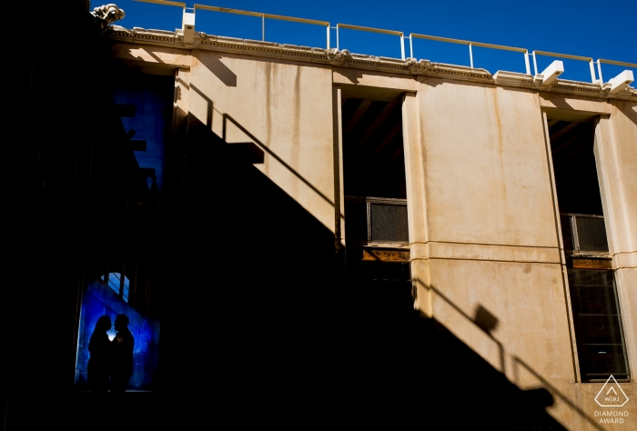 Spain Baza-Granada Engagement Portrait Shoot in the Urban Shadows