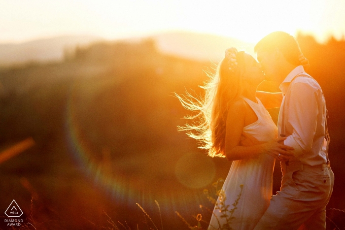 Boston Engagement Photographer | Lifestyle Engagement Portrait in beautiful warm afternoon light