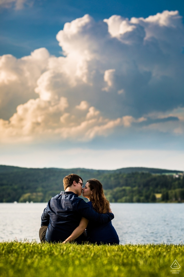 Czech Republic - by the lake Engagement Photographs