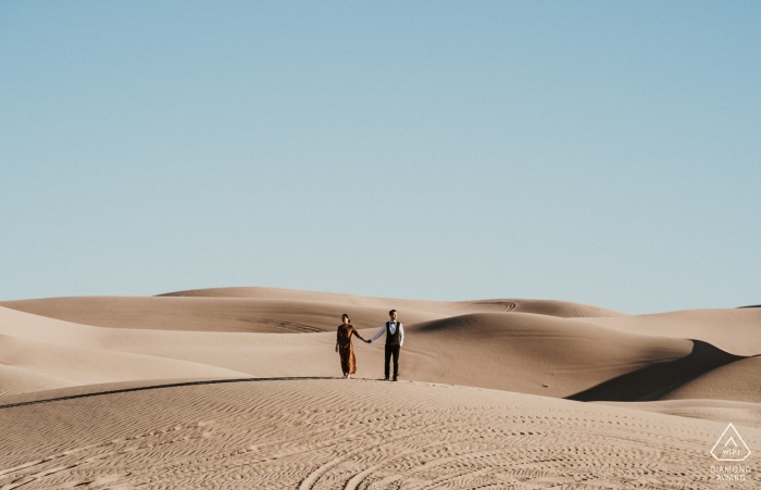 Solo noi in bella vista - Arizona Engagement Photo nel deserto