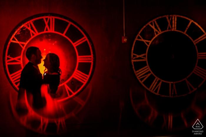 Chicago clocks - Illinois Engagement Photo