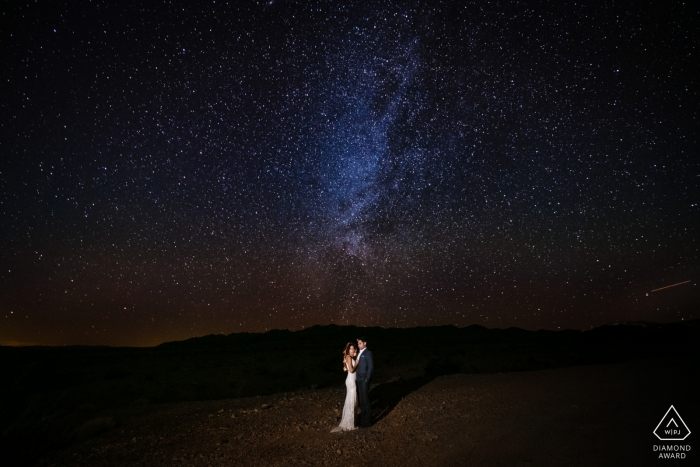 Santa Monica Wedding Photographer - Long Exposure Engagement Portrait
