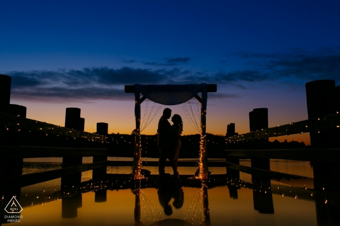 Los Angeles Wedding Photograph - Engagement Proposal Silhouette