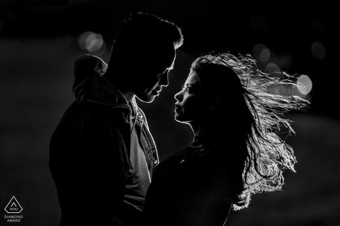 Windy Verlobungssitzung - Santa Monica Hochzeitsfotograf
