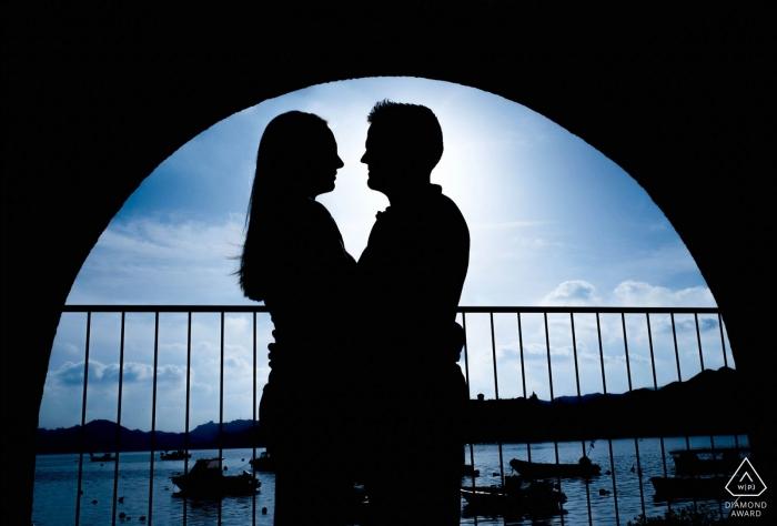 Photograph captured at sunset on a beautiful pier - Murcia Engagement Photos