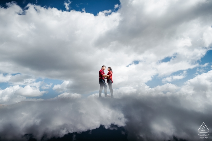 On the cloud for this couple - California Engagement Photos